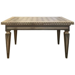 Tuscan Mid-19th Century Extensible Painting Neoclassical Table