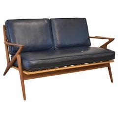 Danish Mid-Century Modern Teak Two Cushion Z Sofa by Poul Jensen for Selig