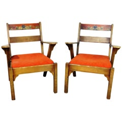 Pair of Monterey Style Armchairs by JB Van Sciver Co.