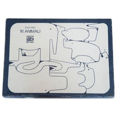 16 Animali Puzzle by Enzo Mari in Resin, Vintage, Italy, 1972