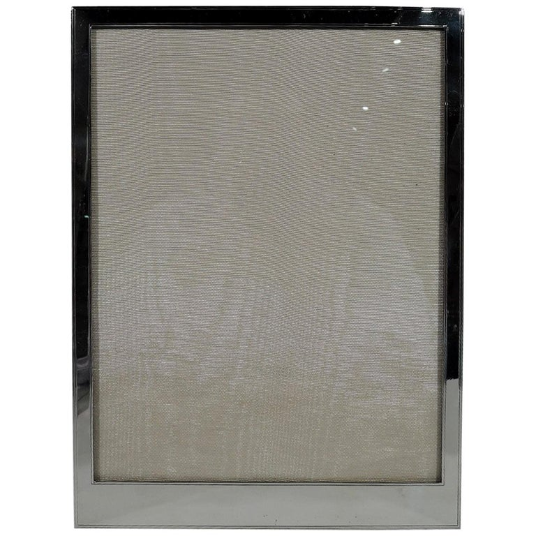American Art Deco Modern Sterling Silver Picture Frame