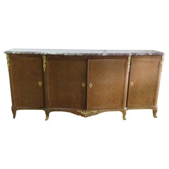 French Louis XVI Style Marble-Top Sideboard