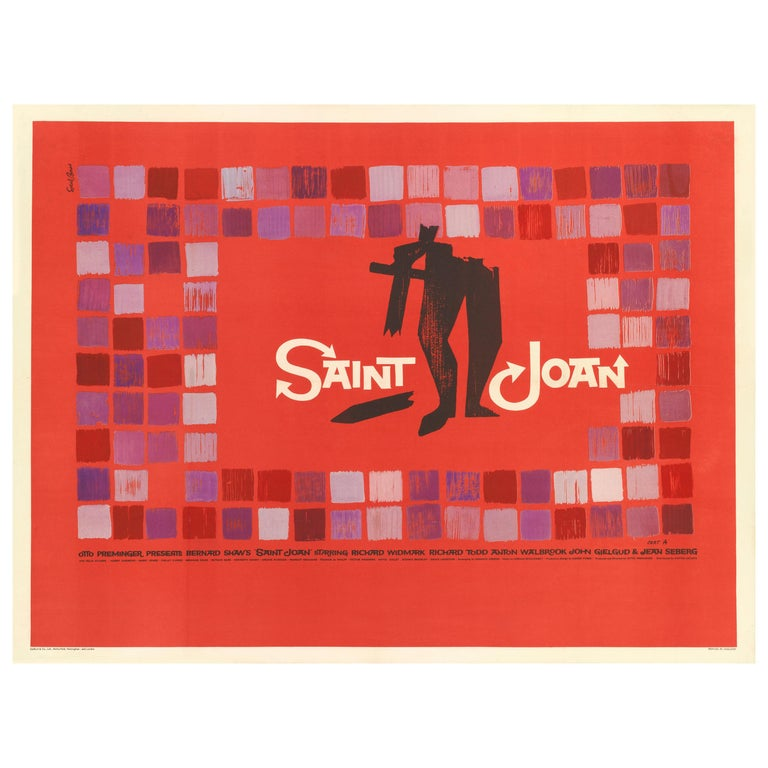 Saint Joan Film poster For Sale