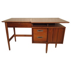 American Midcentury Desk with Finished Back