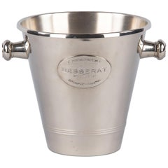 French Silver Metal Ice Bucket for Champagne Besserat, 1970s