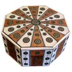 19th Century Anglo Indian Vizagapatam Octagonal Sunburst Box