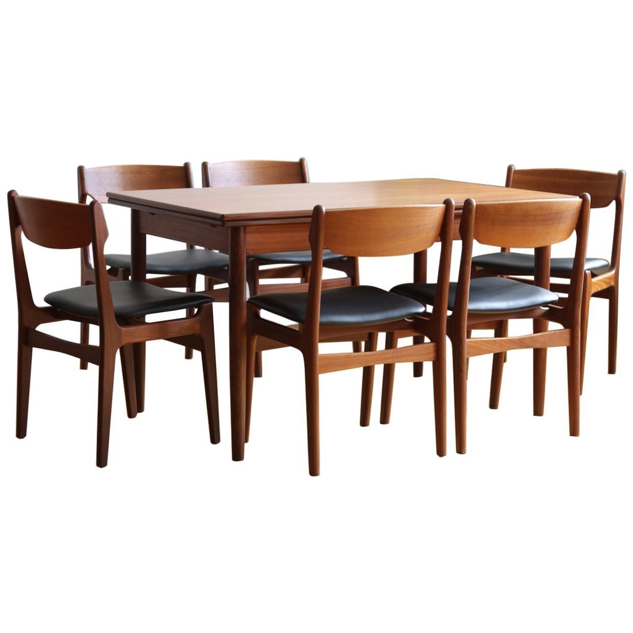 Merveilleux Mid Century Danish Modern Extending Findahls Dining Set For Sale