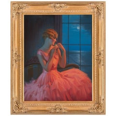 Midnight and You, After Art Deco Oil Painting by Gene Pressler