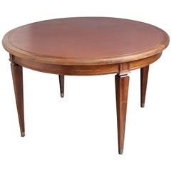 French 1940s Mahogany Card Table