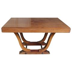 French 1940s Art Deco Style Rosewood Dining Table