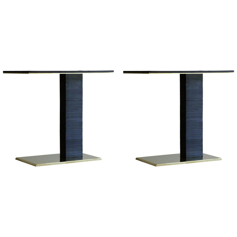 Pair of Cantilever Infinity Side Table by Christopher Kreiling