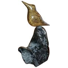 Irish Bog Oak Bird Sculpture