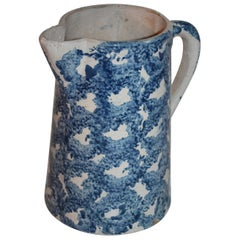 19th Century Design Sponge Ware Pitcher