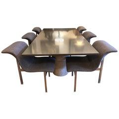 Saporiti Italia Giovanni Offredi Paracarro Double Pedestal Dining Set
