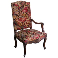 Louis XV Style Needle Point Fauteuil