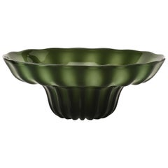 Venini Ninfea Bowl in Apple Green by Napoleone Martinuzzi
