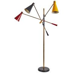 Early Three-Arm Floor Lamp by Stilnovo