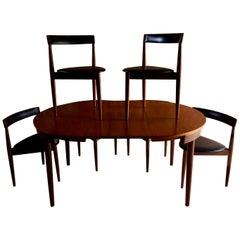 Hans Olsen Dinette Dining Table & 6 Chairs Frem Rojle Danish Midcentury Set of 3