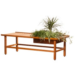 1950s, Beautiful Plant Bench or Coffee Table by Yngve Ekström in Teak