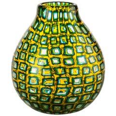 Venini Murrine Romane Multi-Color Vase by Carlo Scarpa