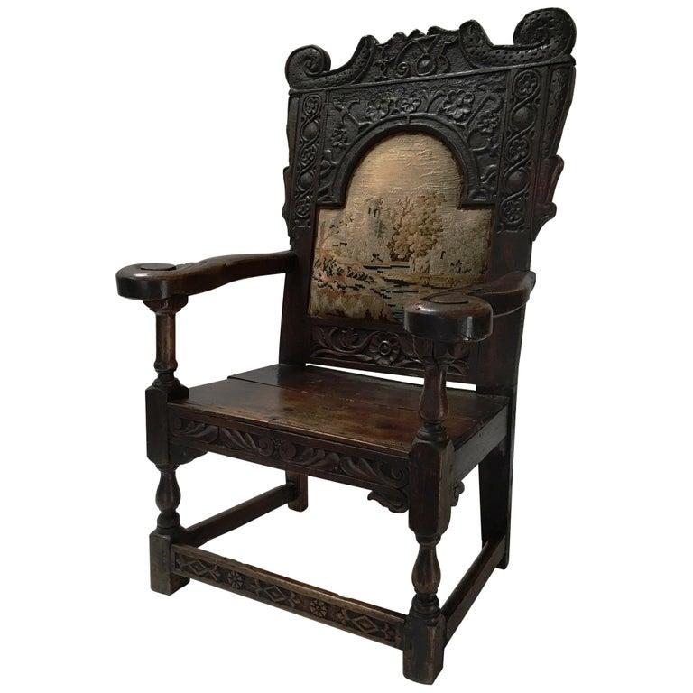 17th Century English Jacobean Armchair For Sale