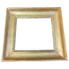 19th Century Empire Style Frame Gilded in Pure Gold