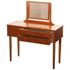 1950s Beautiful Teak Dressing Table by Ulferts, Sweden