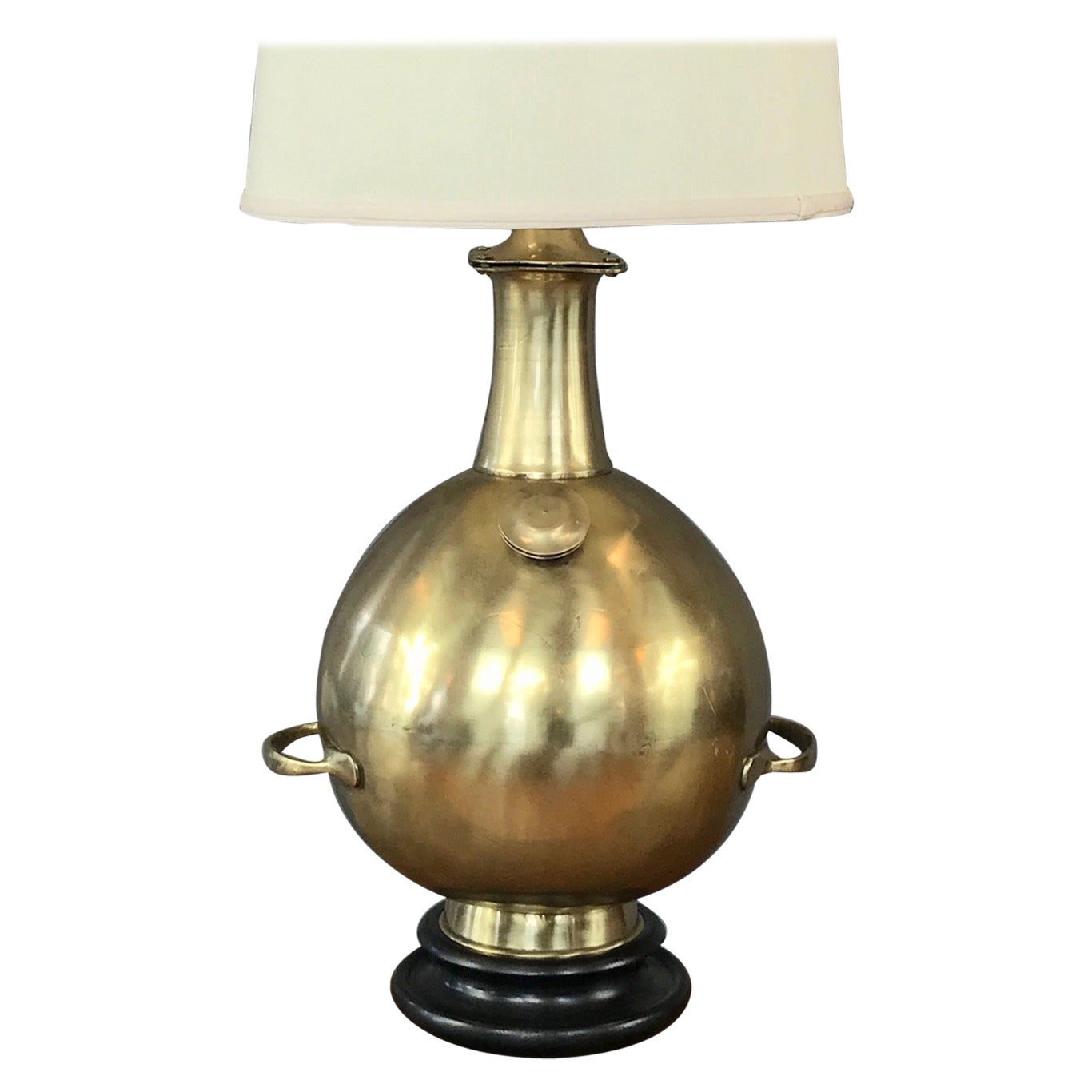 """Marbro Monumental Solid Brass """"Diving Bell"""" Table Lamp"""