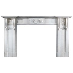 White Marble 20th Century Copy of a Regency Chimneypiece