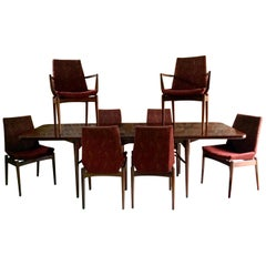 Robert Heritage for Archie Shine Rosewood Dining Table & 8 Chairs Hamilton Range