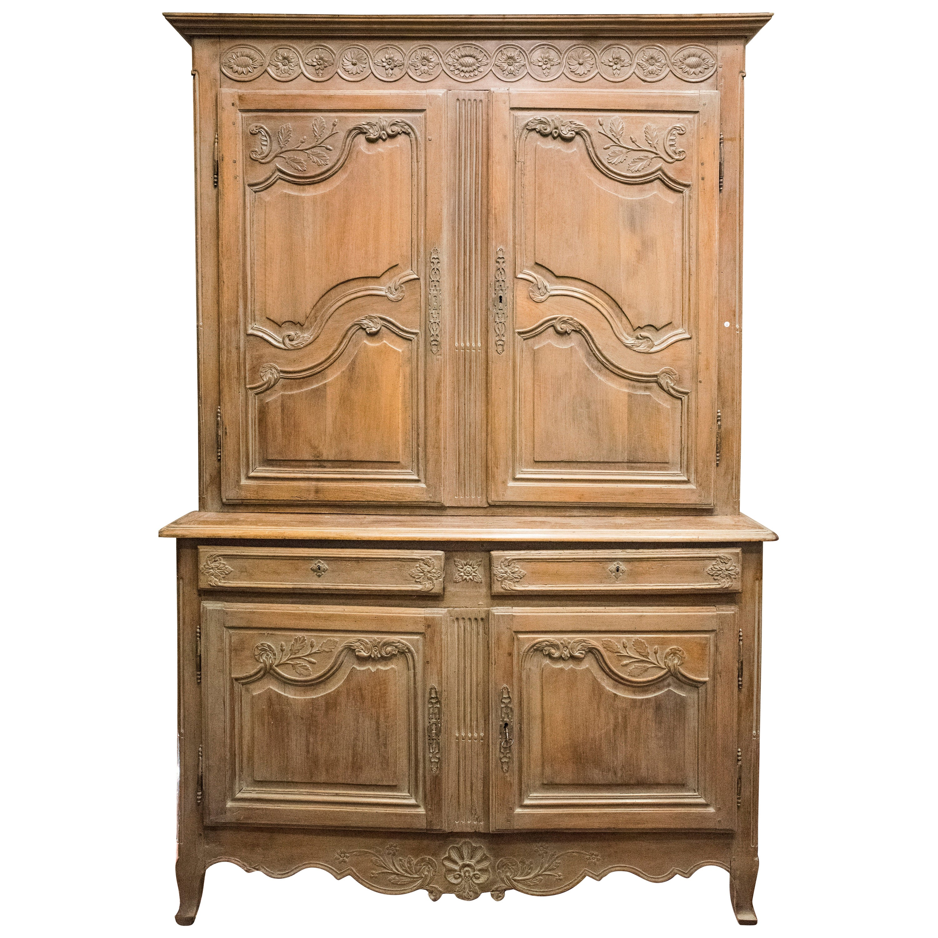 19th French Buffet Carved and Stucco Fruit Wood French Provenzal buffet