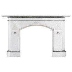 Aesthetic Movement Antique Chimneypiece in Pencil Statuary Marble