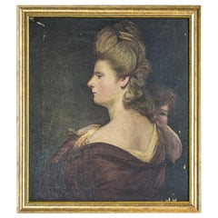 19th Century Painting, Oil on Canvas, A Portrait of a Woman