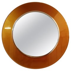 Max Ingrand for Fontana Arte Circular Glass Framed Mirror, Model 2383, Italy