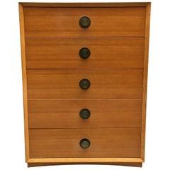 American Moderne Tall Blonde Dresser