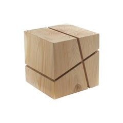 Concepta Cedar Stool in Natural Solid Cedar Wood