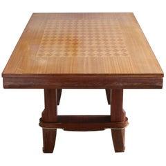French 1940s Leleu Style Mahogany Dining Table