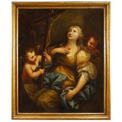 18th Century Oil on Canvas Italian Religious Painting Magdalene, 1720