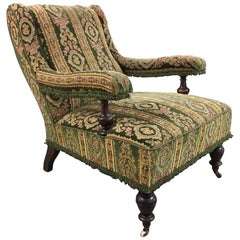 Edwardian Carpet Library Chair, circa 1900