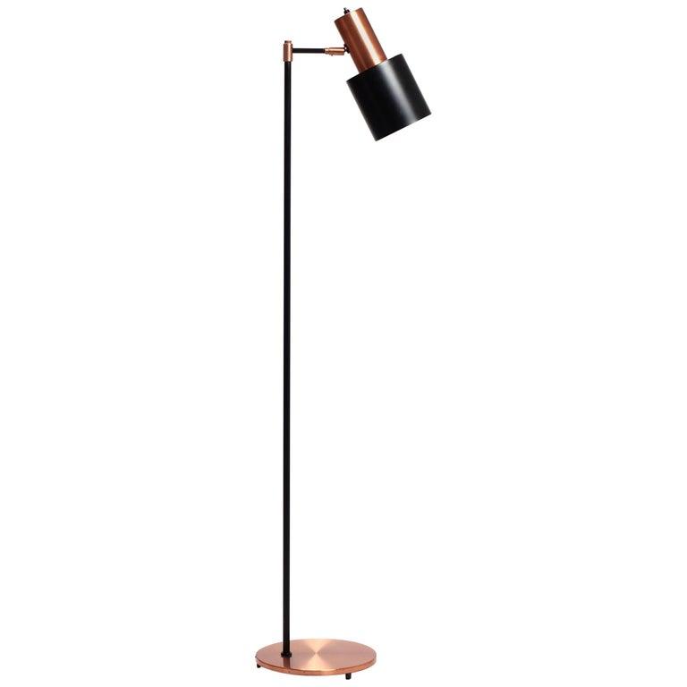 Jo Hammerborg Studio Copper Floor Lamp for Fog & Mørup, Denmark, 1960s