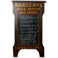 Barclay's Brewery Oak Hotel Black Board or Menu Board