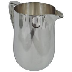 Tiffany Art Deco Modern Sterling Silver Water Pitcher