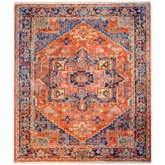 Exciting Early 20th Century Heriz Rug