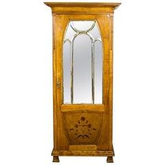 Art Nouveau Linen Cabinet Veneered with Rosewood, circa 1900-1910