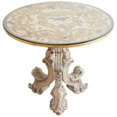 Italian Neoclassical Painted Marble-Top Centre Table
