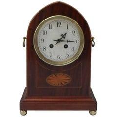 French Belle Époque Mahogany Mantel Clock