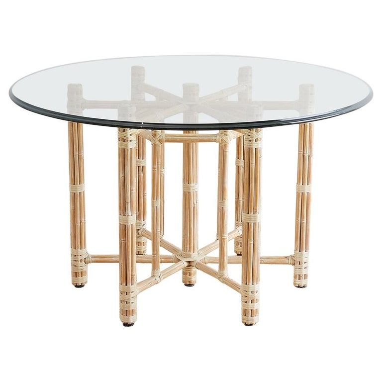 McGuire Organic Bamboo Garden Dining Table For Sale