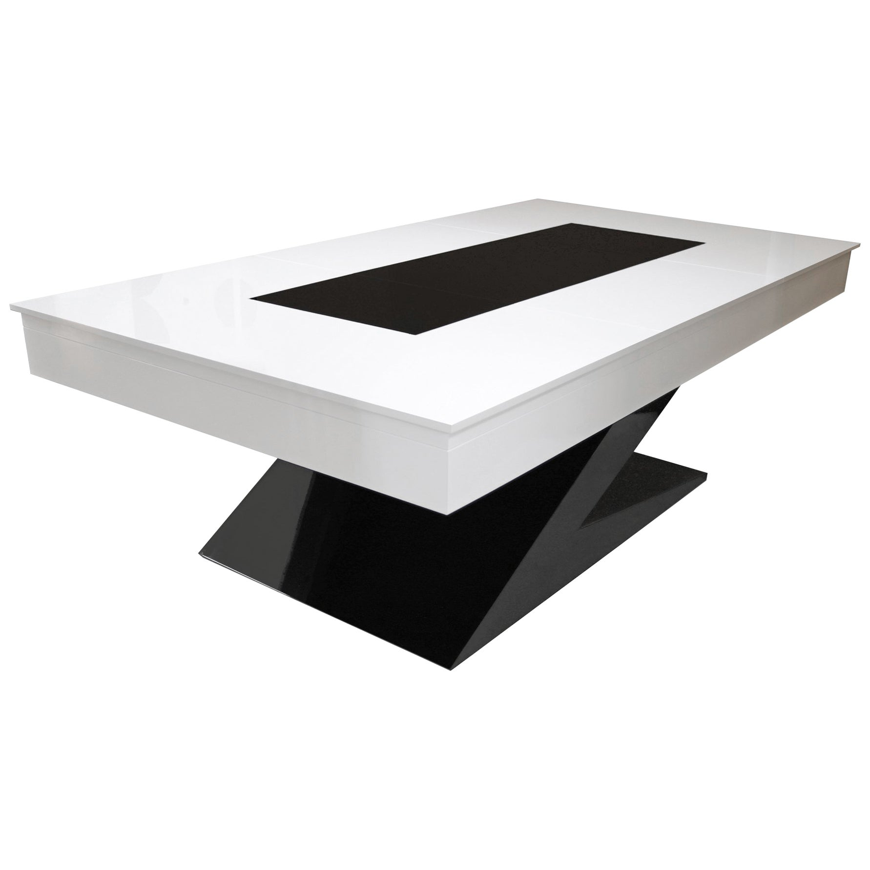 Modern Design Dining Billiard Snooker Pool Ping-Pong Table in Black White & Blue
