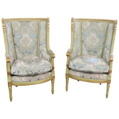 Pair of Regency Style High Back Chairs