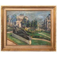 Beautiful Oil Painting of Paris Landscape